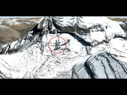 Lord Shiva Like Structure Appears on Mount Kalish - Google Earth