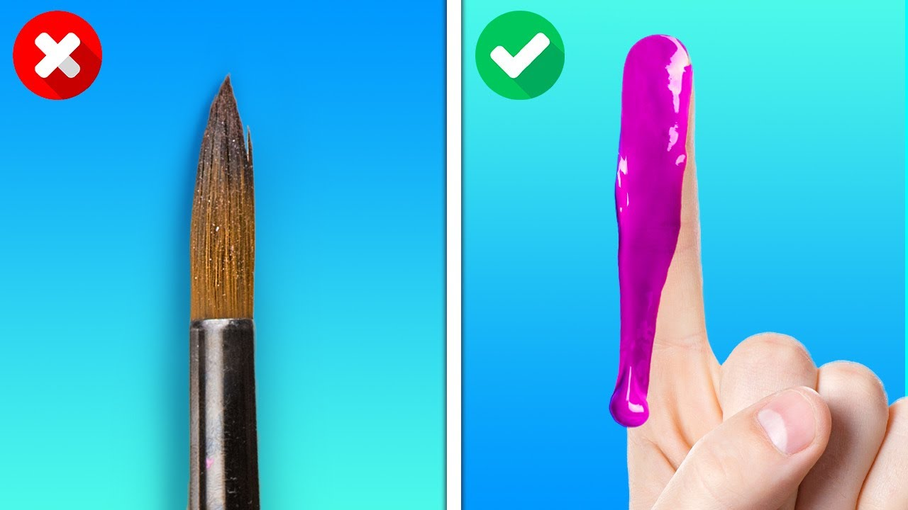 SIMPLE PAINTING TUTORIAL FOR BEGINNERS    Fast Drawing Tricks And Art Ideas You Can Make Yourself