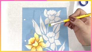 Pintura em tecido com estêncil para iniciantes