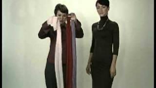 Как красиво завязать платки,шарфы,парео 5 часть