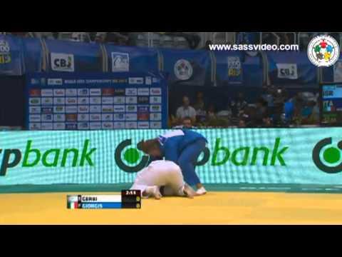 World Judo Championships Rio 2013 - Round 3 -63kg GERBI (ISR) v. GIORGIS (ITA)