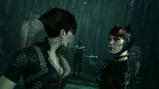 Batman: Arkham Knight - Catwoman meets Nyssa (free roam + mesh swap mod)