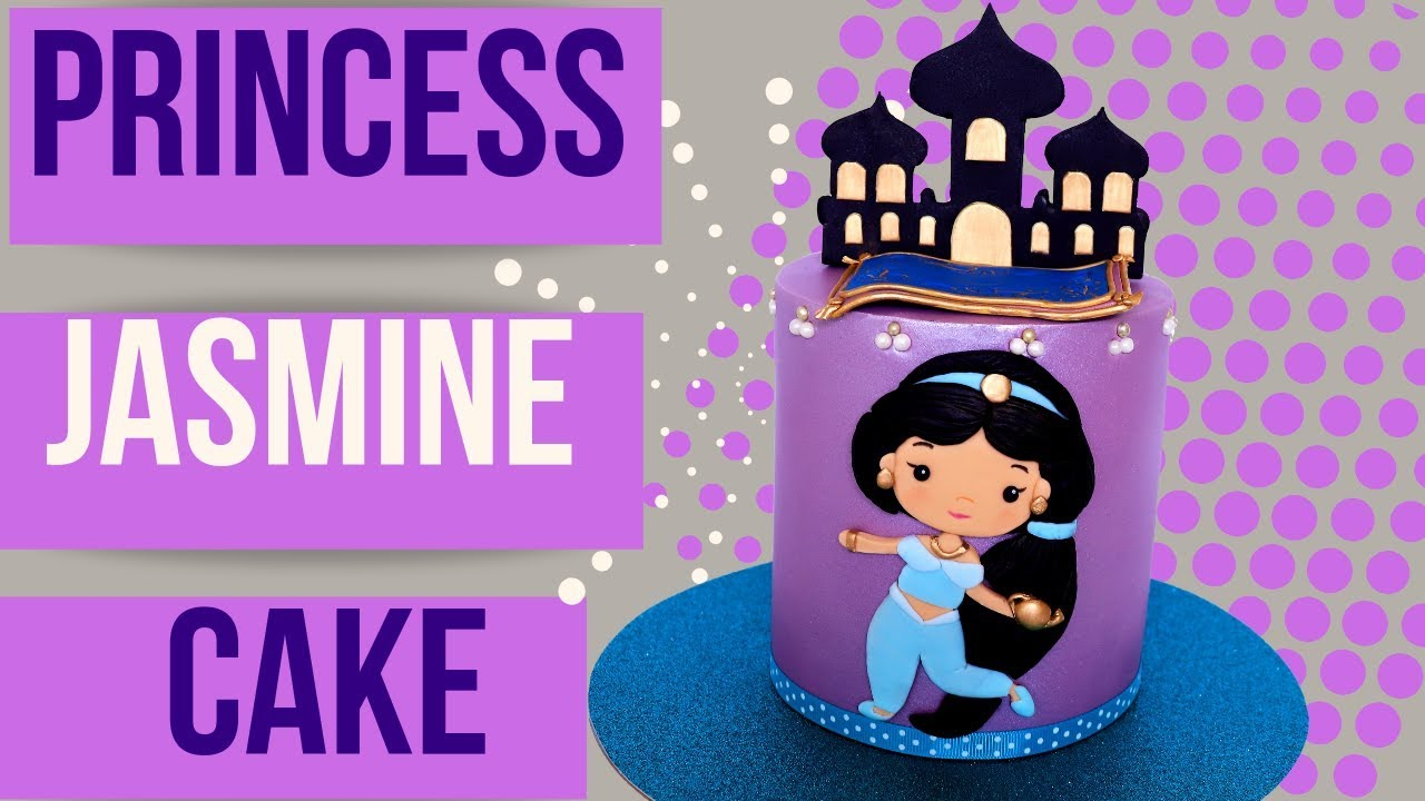 Princess Jasmine Cake Tutorial Disney S Aladdin Youtube