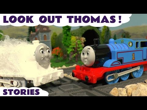 Thumbnail: Thomas and Friends Look Out Thomas Toy Trains for kids episodes with Ghost Train Minions & Eggs TT4U