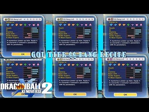 Dragon Ball Xenoverse 2: God Tier (BEST) Any Build QQ Bang Recipe Ep5