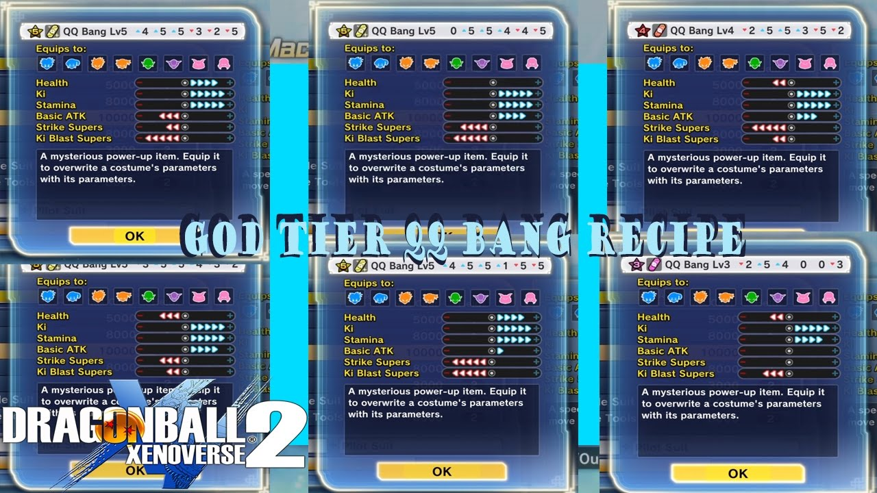 Dragon Ball Xenoverse 2: God Tier (BEST) Any Build QQ Bang Recipe ...