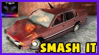 BeamNG drive - SMASH IT UP Destroying Cars with Flying Rocks