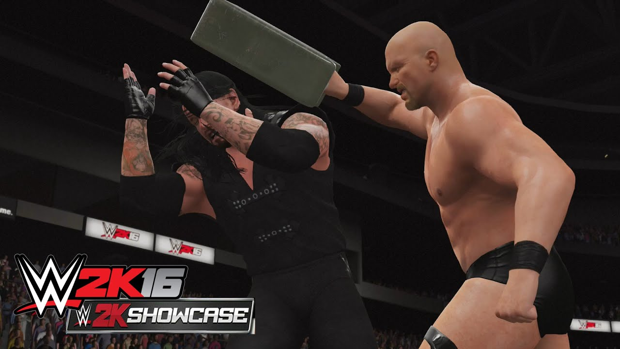wwe 2k16 showcase mode stone cold vs the undertaker buried alive