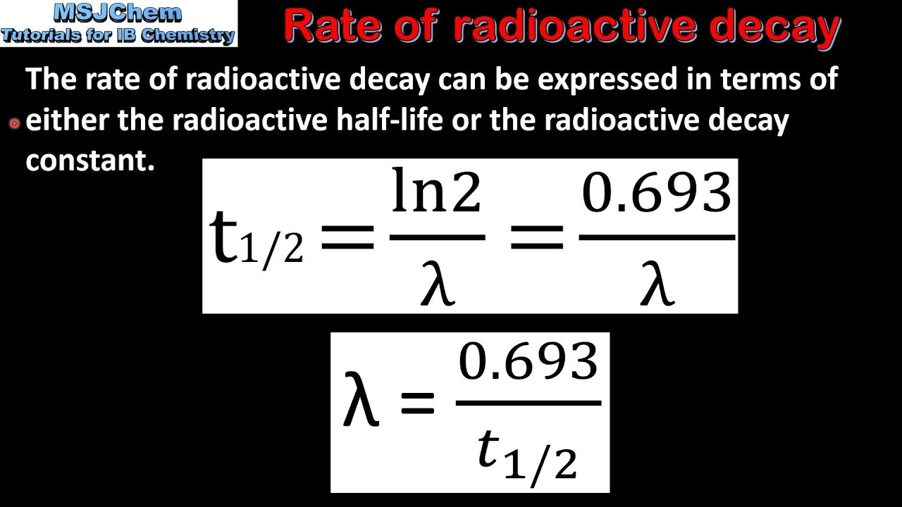 C 7 Rate Of Radioactive Decay Hl