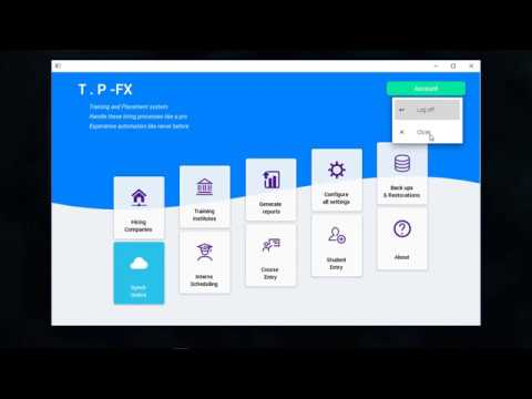 Javafx Material Design Training And Placement System Youtube