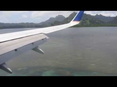 Arrival in Kosrae, Micronesia from Marshall Islands (Continental Airlines)