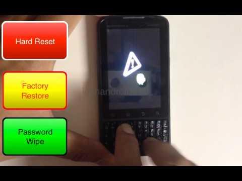 How to Hard Reset Factory Restore Password Wipe the Motorola Droid Pro Verizon tutorial