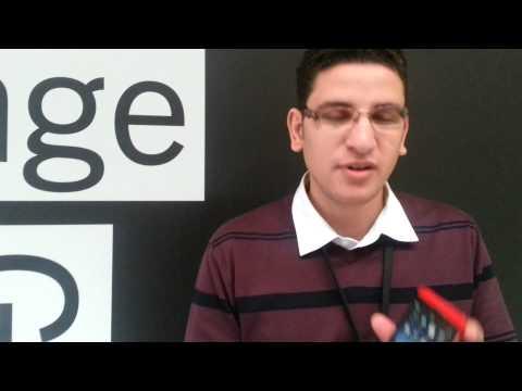 Hisham Bakr speaks at #BBJAM Europe in Amsterdam.