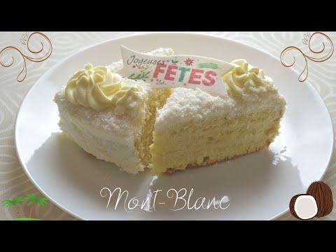 mont-blanc!!!-#gÂteauantillaisraffiné!!!-a-la-noix-de-coco!!!-génoise-très-moelleuse!!-best!!!