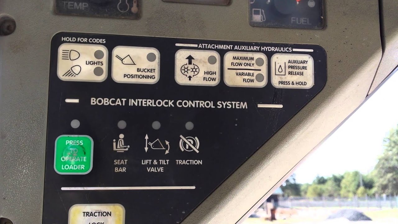 bobcat error youtubebobcat t200 fuse box location 7 [ 1280 x 720 Pixel ]