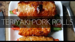 Teriyaki Pork Rolls - Pickled Plum
