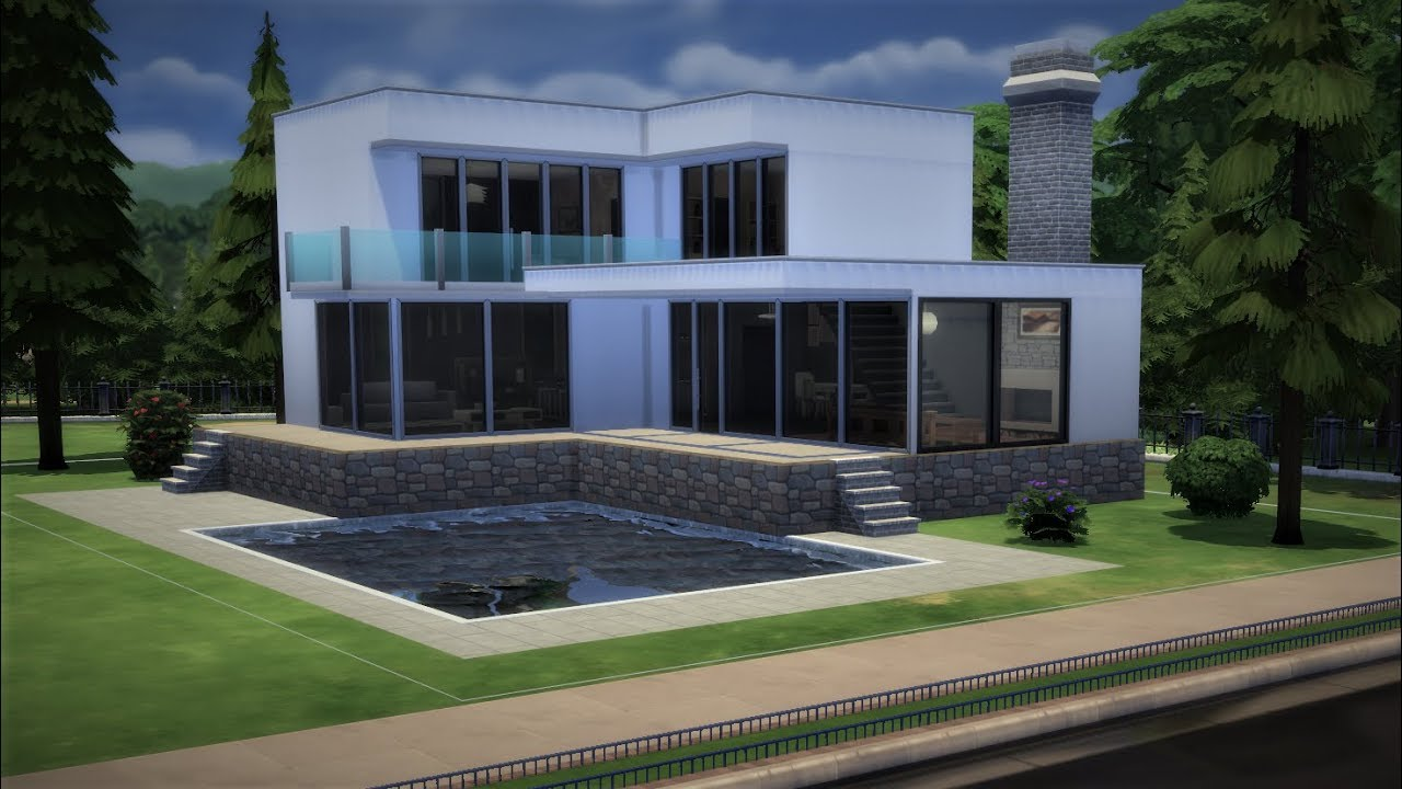 The Sims 4 Let S Build A Minimalist House The Sims 4 Speed Build