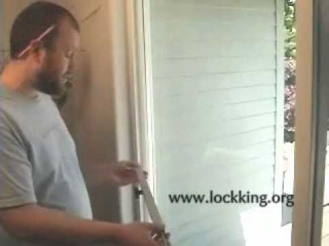 How To Install The Best Patio Door Security Bar Lock Youtube