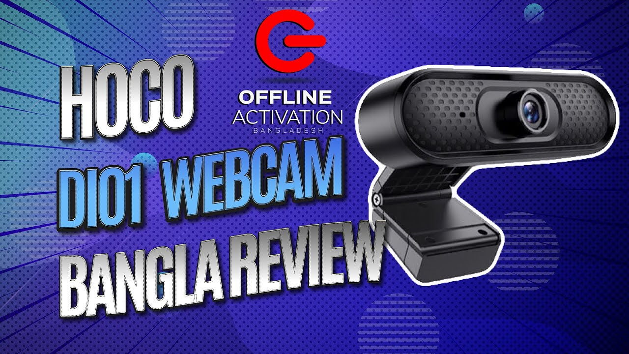 HOCO DI01 Webcam Unboxing and Detailed Review | Bangla | Full HD