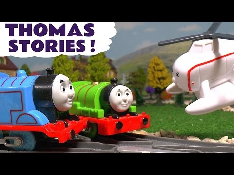 Thomas & Friends Stories of Toy Trains Racing Flying Accidents and Surprise Eggs Fun ToyTrains4u
