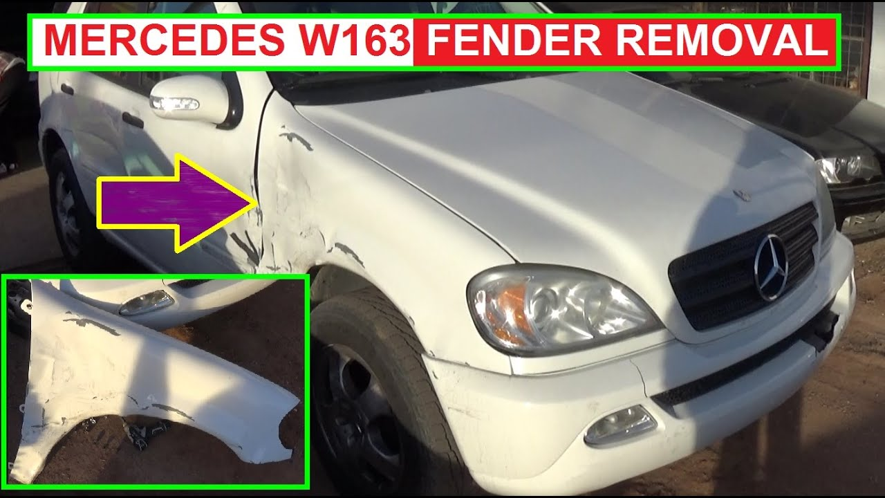 Fender removal and replacement on mercedes w163 ml230 for Mercedes benz bumper repair