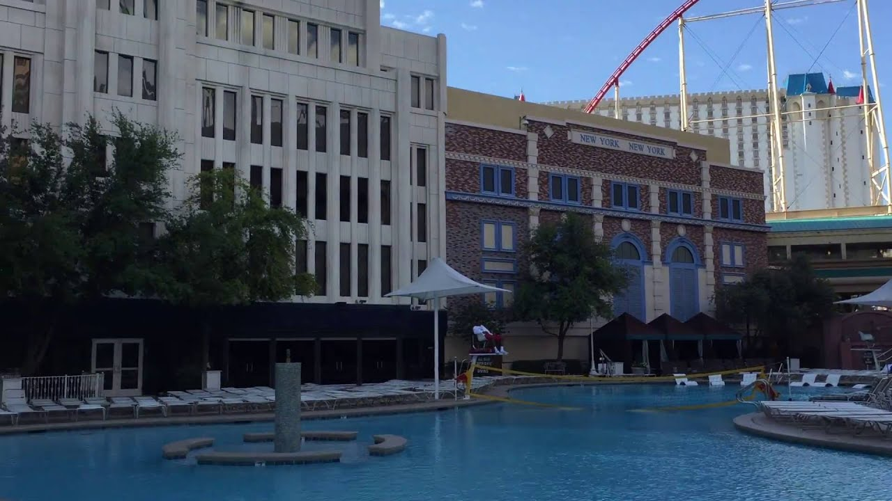 New york new york las vegas swimming pool may 2016 youtube for Pool show las vegas 2016
