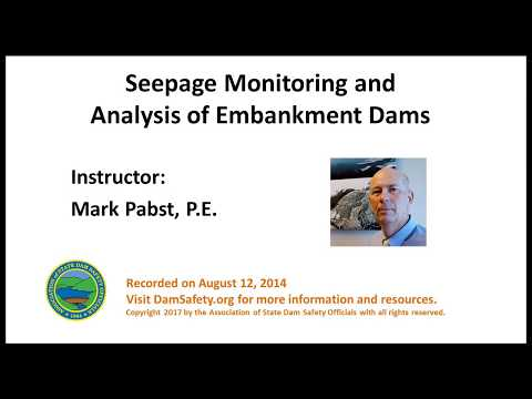 Seepage Monitoring and Analysis of Embankment Dams-2014
