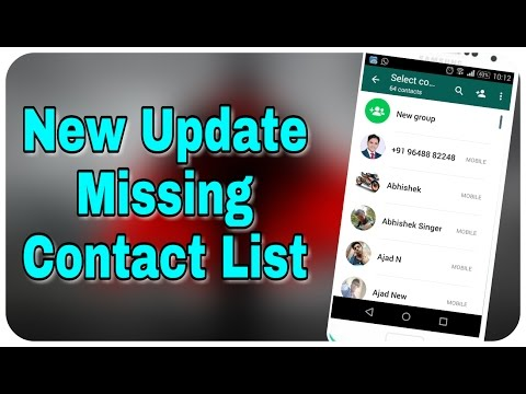 How To Add New Contacts In New WhatsApp Update