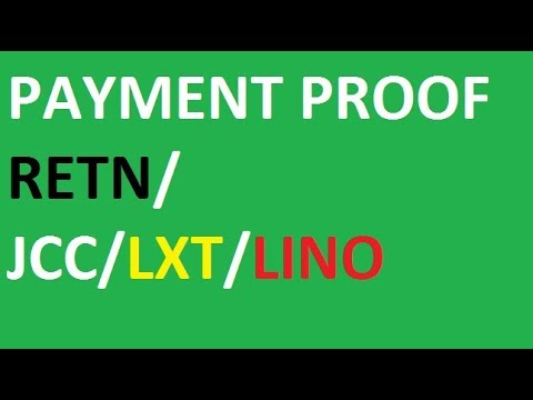 Payment Proof of RETN/JCC/LINO/LXT coin