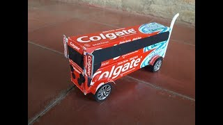 How to Make Bus of paper Easy-Colgate