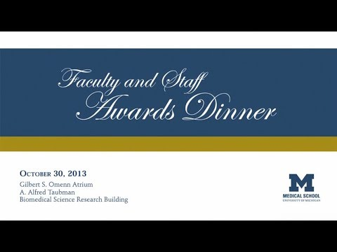 2013 Faculty and Staff Awards Dinner