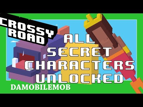 ★ CROSSY ROAD All Secret Characters | ALL Secret Characters Unlocked (Ocean Update July 2018)
