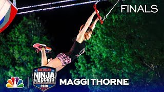 Maggi Thorne Fights Through Injury - American Ninja Warrior Oklahoma City Finals 2019