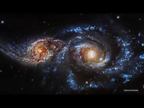 HUBBLE SPACE TELESCOPE: NGC 2207  Colliding Galaxies Ultra HD