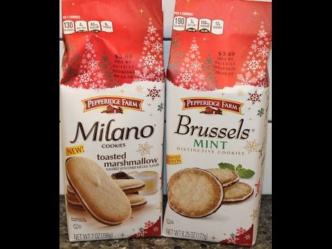 Pepperidge Farm: Toasted Marshmallow Milano and Mint Brussels Cookie Review