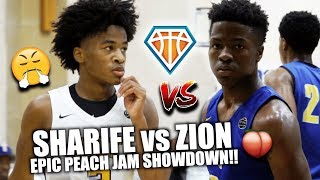 SHARIFE vs ZION EPIC PEACH JAM SHOWDOWN!! | CRAZIEST PG Battle I've Ever Seen *NOT Clickbait*