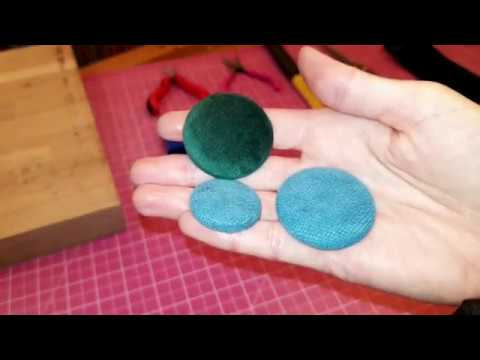 How to upholster buttons - DIY fabric covered buttons