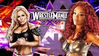 WWE Divas NATALYA & ALICIA FOX at WrestleMania XXX