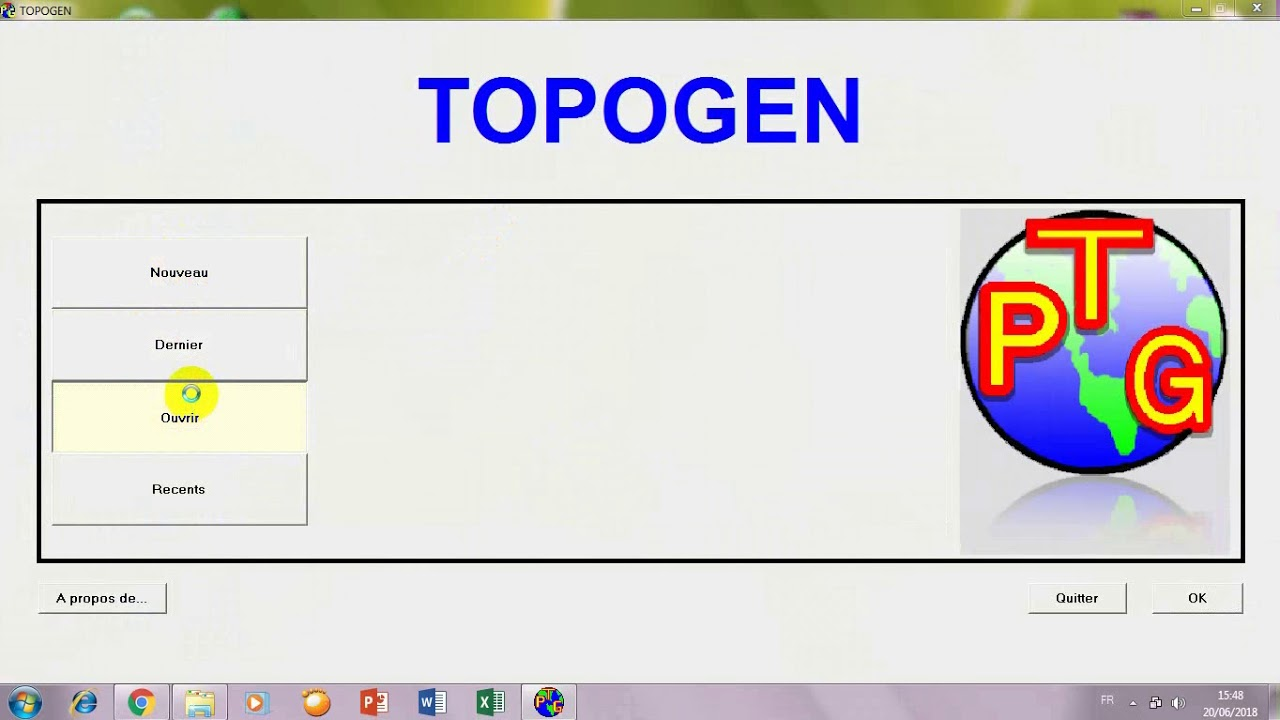 topogen pour windows 7