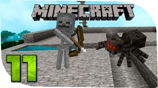 Minecraft С модами 11 Пора добывать опыт. Башня с враждебными мобами