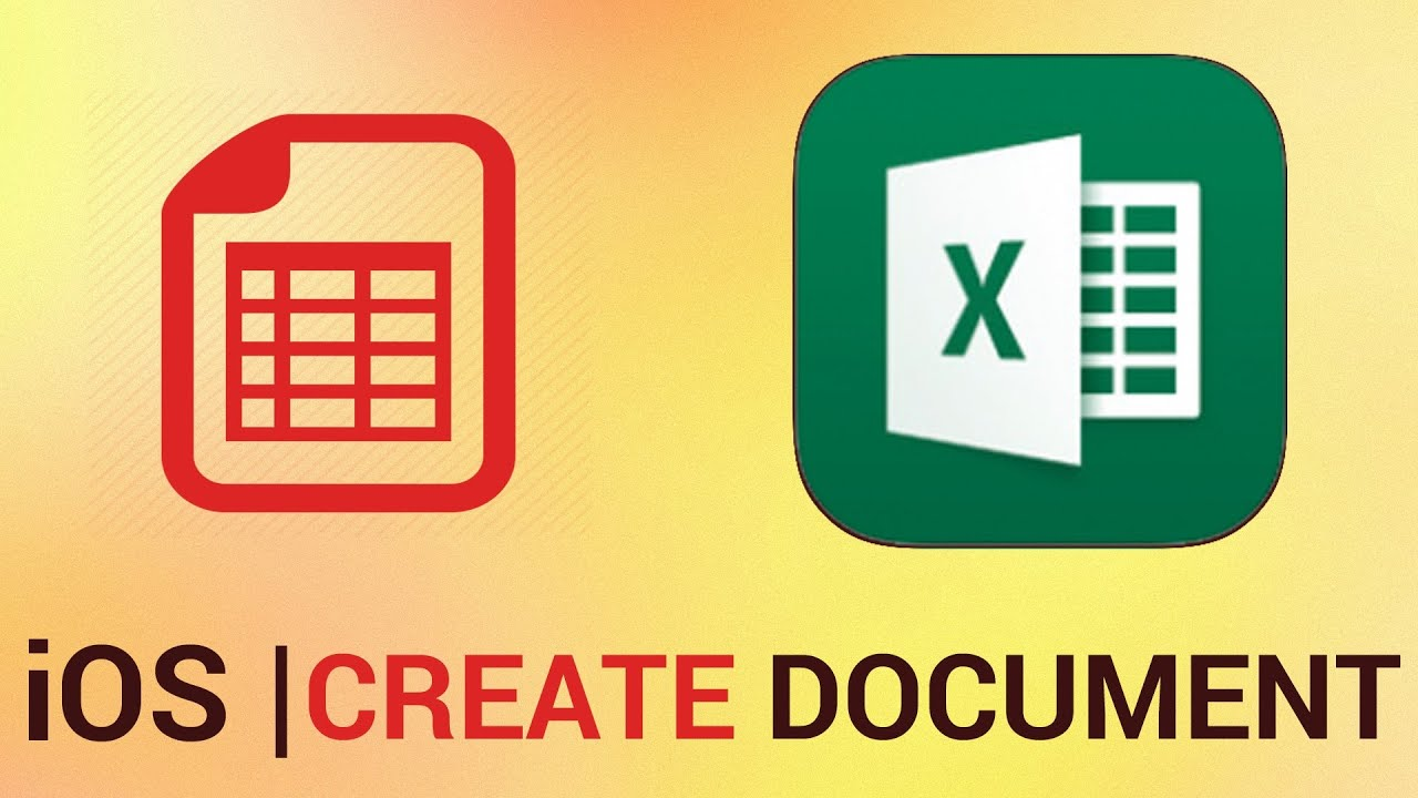 How to Create a Document in Excel for iPhone