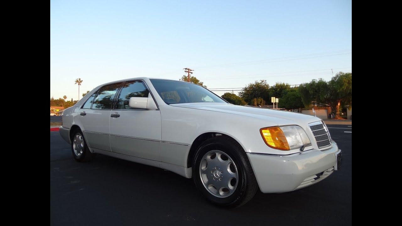 92 mercedes benz 500sel w140 s500 500 sel big body sedan v8 walkaround review youtube