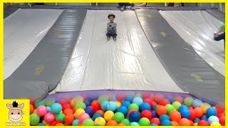 Indoor Playground Learn Colors Fun for Kids Family Play Rainbow Slide Colors Ball | MariAndKids Toys