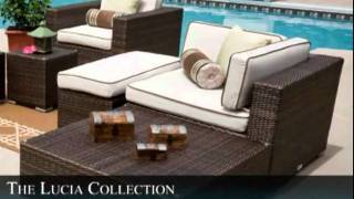 The Lucia Collection All Weather Wicker Patio Furniture Deep Seating Sectional