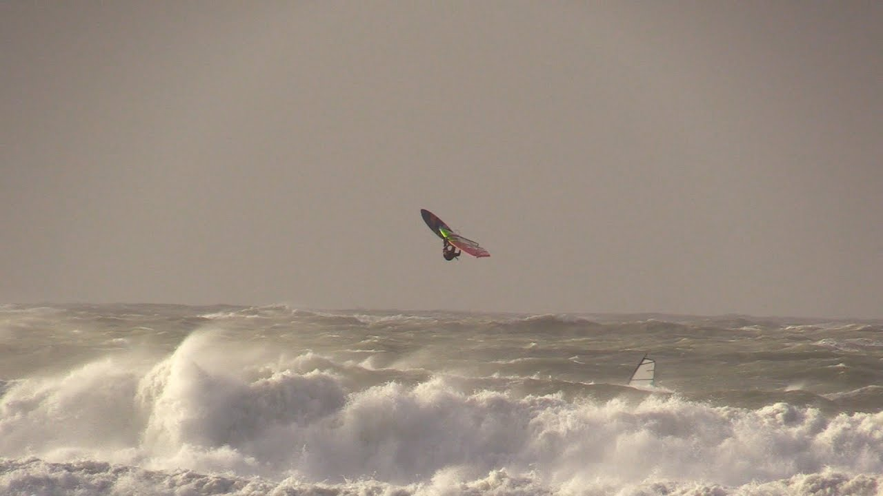 Ophelia Meets Wissant Windsurfing Storm Ophelia At Wissant Youtube