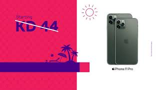 Great prices for a great summer with stc! Own iPhone 11, starting KD 26