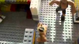 My lego backstage area for my wwe rumblers