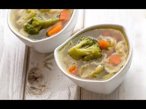Суп постный с макаронами