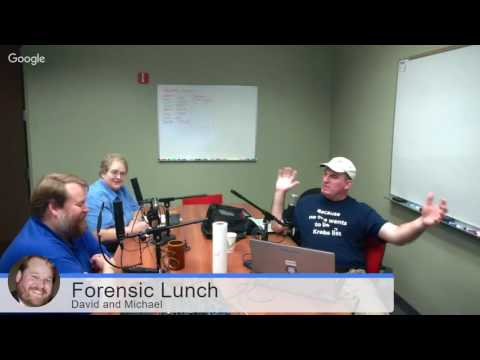 Forensic Lunch 11/4/16