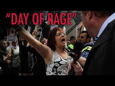 """Toronto """"Day of Rage"""" protesters too enraged to speak with Rebel"""